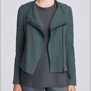 Vince Stretch Frise Asymmetrical Jacket Green  XL